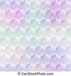 Colored mosaic seamless pattern with grunge effect.
