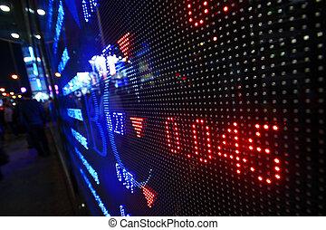 Colored ticker board
