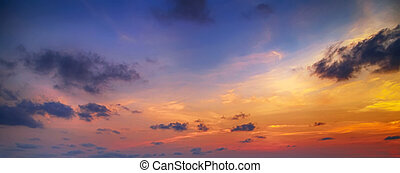 Colorful cloudy background sunrise or sunset