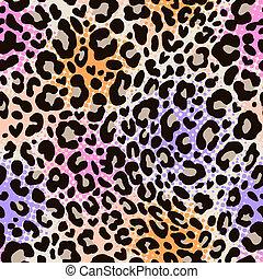 colorful leo print