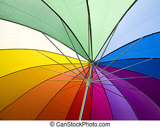 An open umbrella to show the colors of light