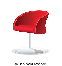 illustration of comfortable trendy chair on white background