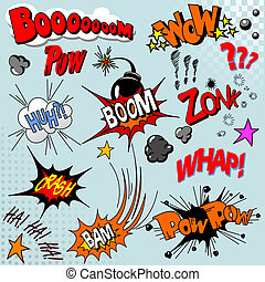 Illustration of comic book explosion for your design