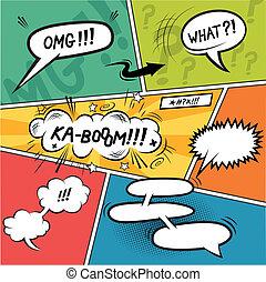 Comic Speech Bubbles. Layered vector illustration.
