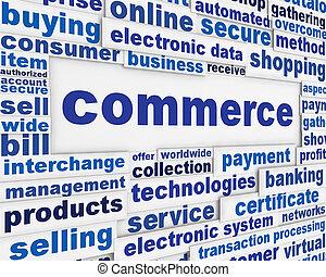 Commerce poster design