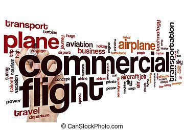 Commercial flight word cloud