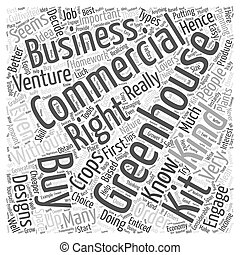 commercial greenhouse kits Word Cloud Concept