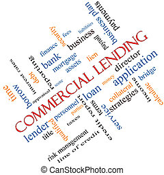 Commercial Lending Word Cloud Concept Angled