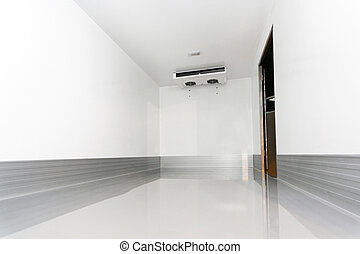 Interior of commercial refrigerator and cooling box