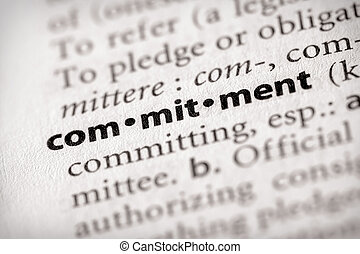 """Selective focus on the word """"commitment"""". Many more word photos in my portfolio..."""