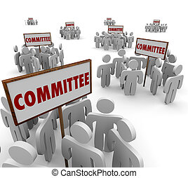 Committee People Working Together Teamwork Task Forces