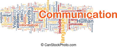 Background concept wordcloud illustration of communication