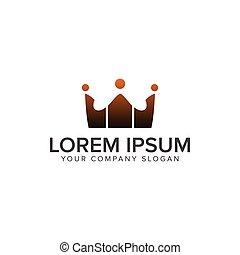 communication group people Logos. crown logo design concept template