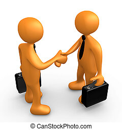 Computer Generated Image - Business Agreement .