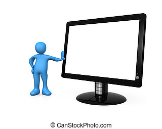 Computer generated image - Empty Monitor .