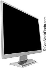 Computer lcd flat monitor blank