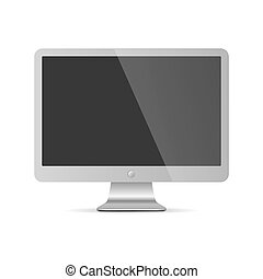 Computer monitor display isolated. Vector illustration