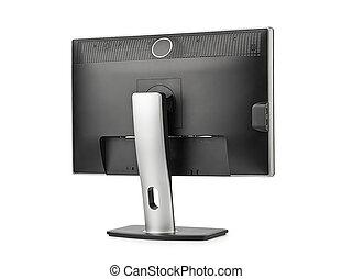Computer monitor rear view