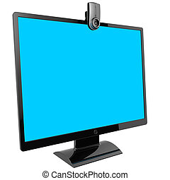 Computer monitor. Video call.