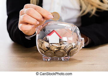Concept Of Buy House With The Savings