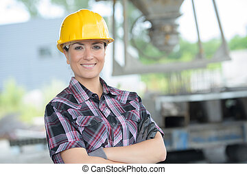 confident engineer woman