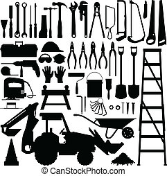 Construction Tool Silhouette Vector