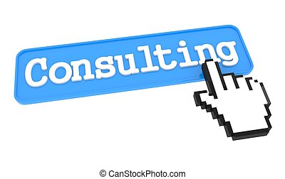 Consulting Button with Hand Cursor.