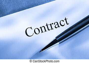 Contract conception with pen