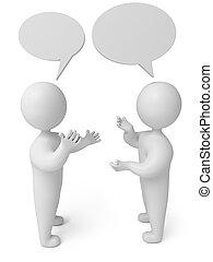conversation, 3d render person