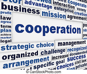 Cooperation conceptual poster design