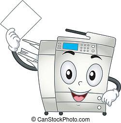 Copier Machine Mascot