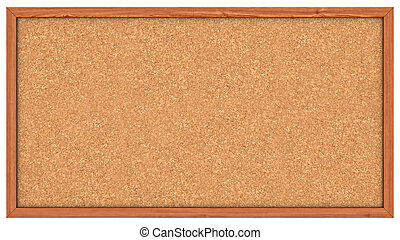 A Corkboard (Bulletin Board) ready to get filled with post its