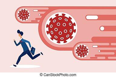 Coronavirus financial crash, economic crisis in business