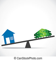 cost of house increases concept