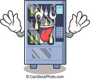 Crazy wine vending machine mascot shaped character