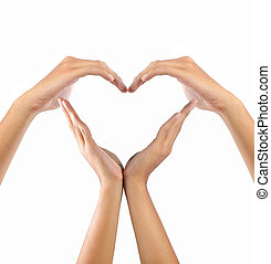love shape by hands