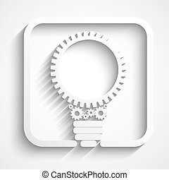 creative bulb with gears logo. Eps10 vector for your design