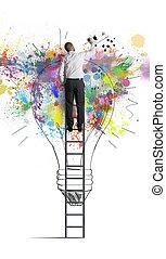 Concept of a big creative business idea
