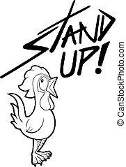stand up illustration