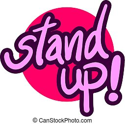 stand up pink message
