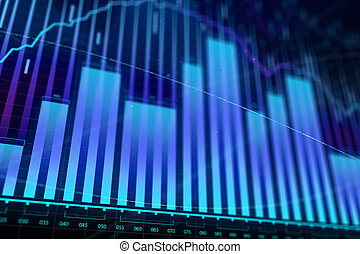 Market growth, finance and economy concept
