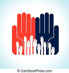 creative group of hands