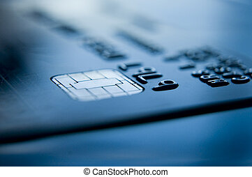 credit card close up and chip and pin