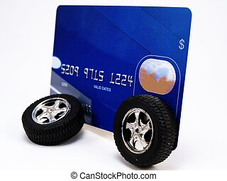 Credit Card with Wheels