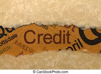 Credit concept