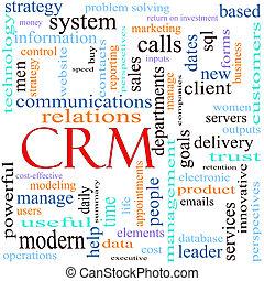 CRM word concept illustration