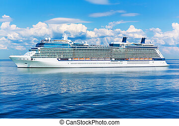 Cruise liner ship in the ocean