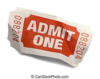 Crumpled Ticket