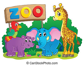 Cute African animals theme image 6