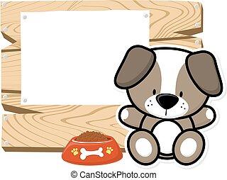 cute baby puppy frame